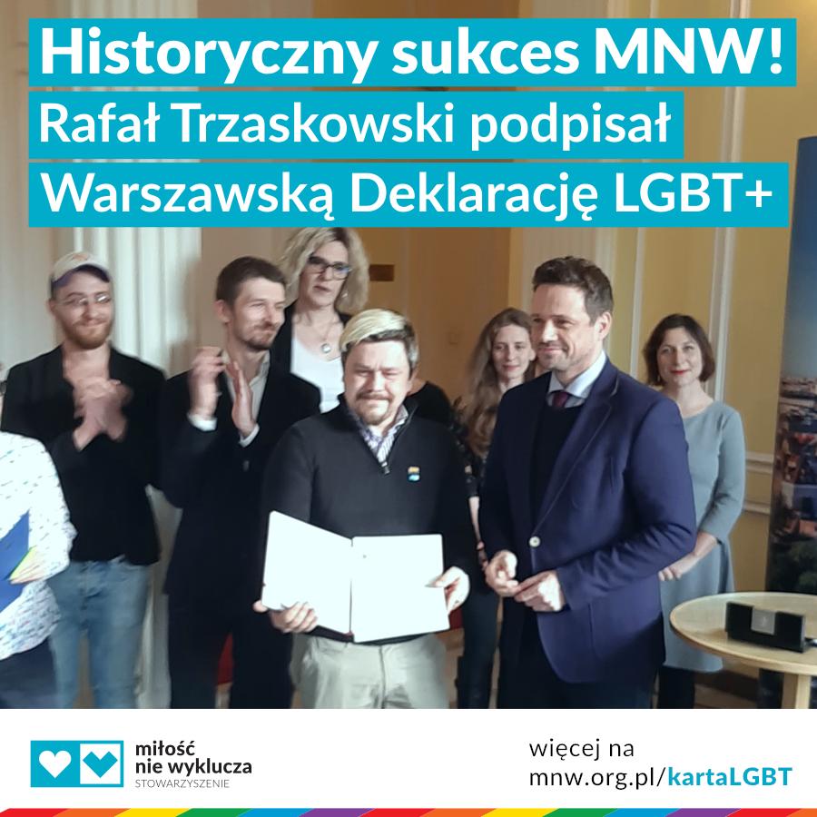 milosc nie wyklucza warszawska deklaracja lgbt+