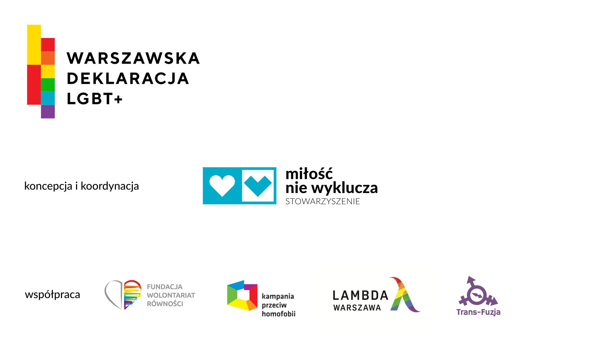 warszawska deklaracja lgbt+ autorzy milosc nie wyklucza