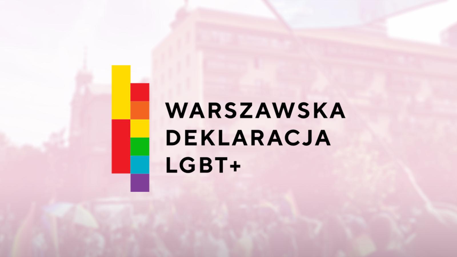 warszawska deklaracja lgbt+ Milosc Nie Wyklucza