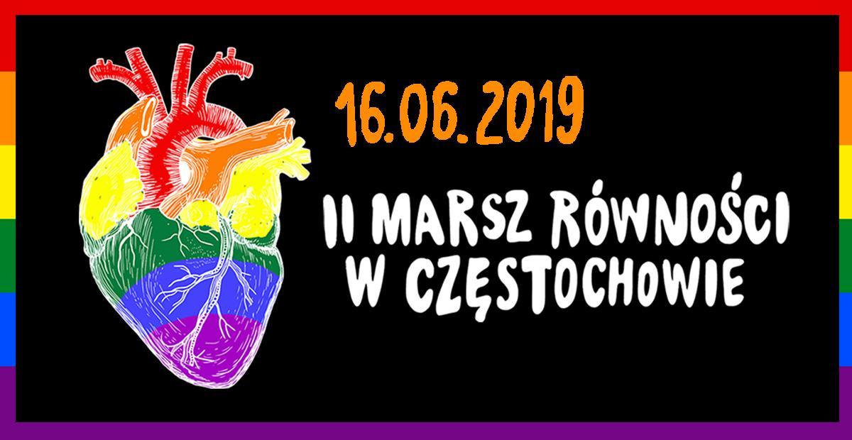 Marsz Rownosci Czestochowa LGBT Milosc Nie Wyklucza