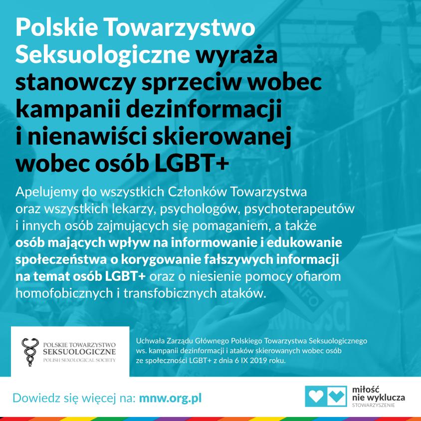 Miłość Nie Wyklucza Polskie Towarzystwo Seksuologiczne LGBT