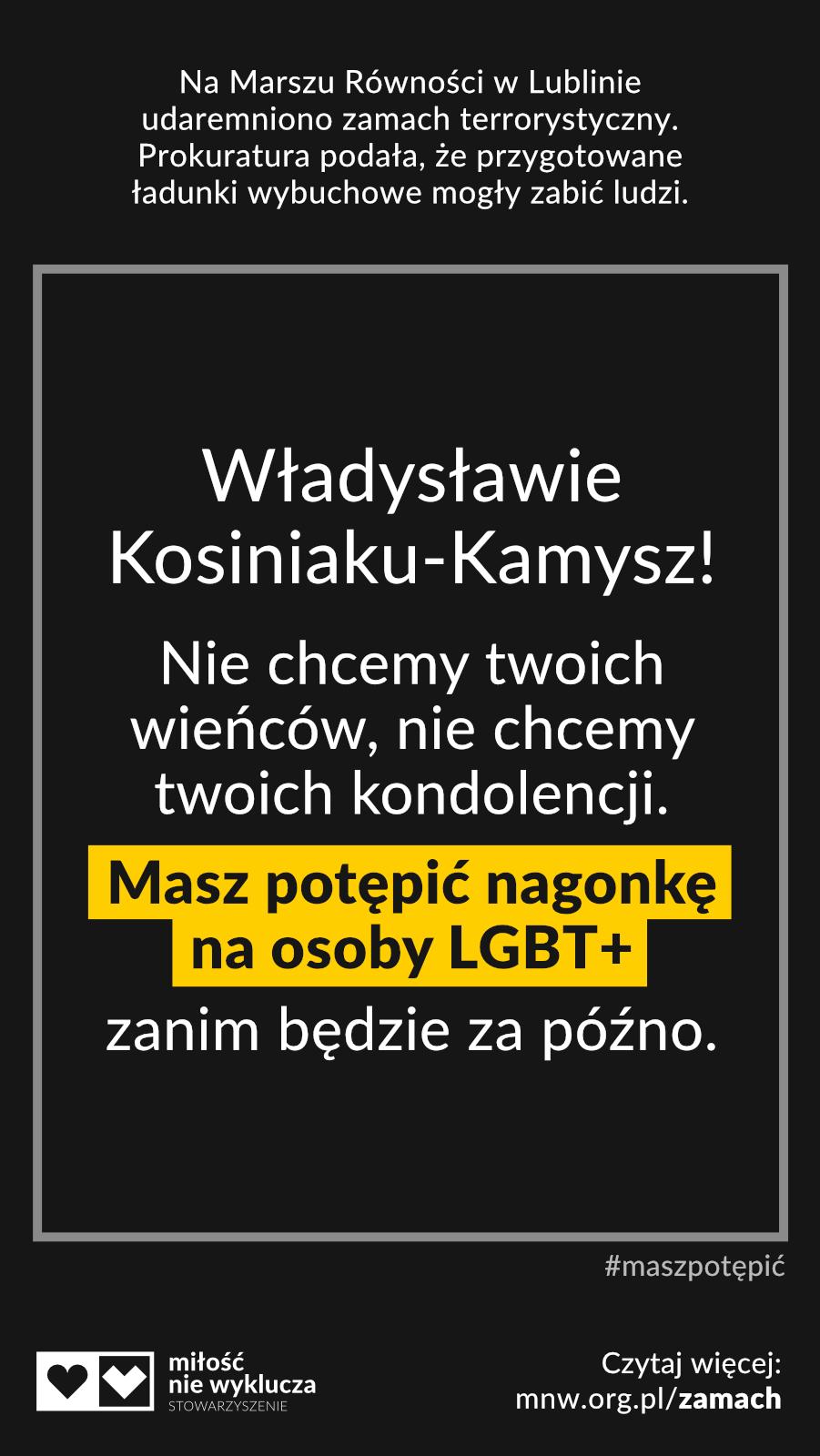 Kosiniak-Kamysz #maszpotepic zamach LGBT+