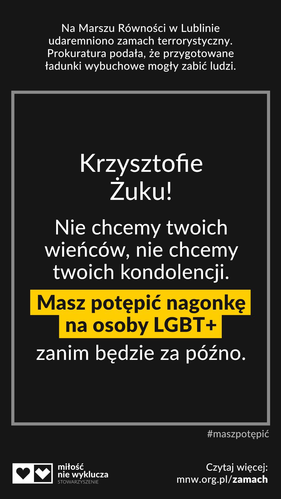 Krzysztof Żuk #maszpotepic zamach LGBT+