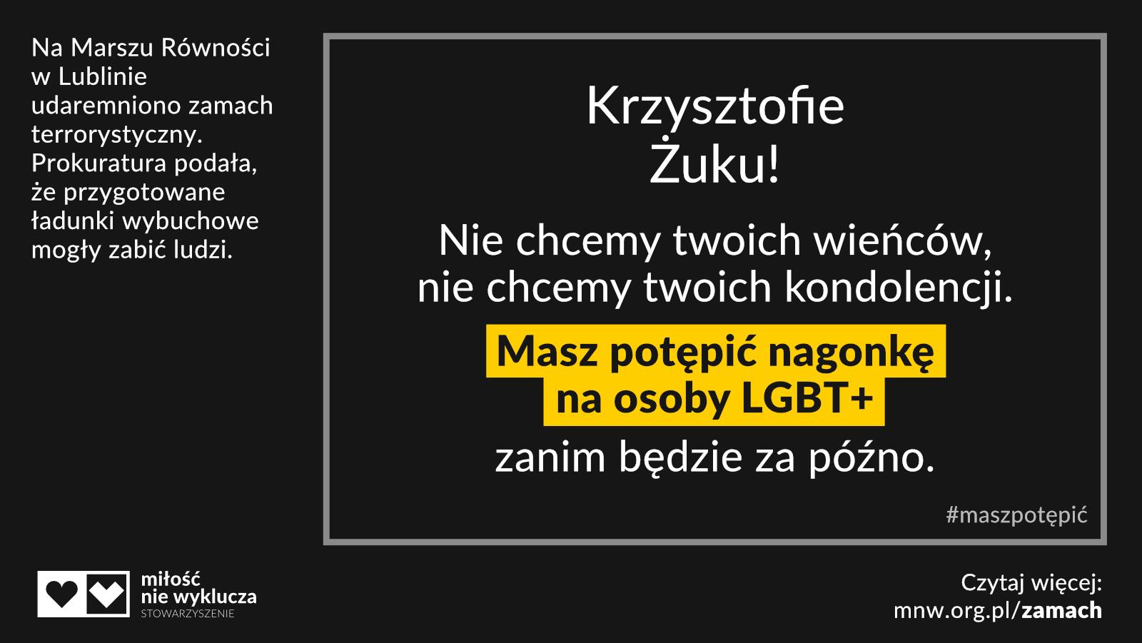 Krzysztof Zuk #maszpotepic zamach LGBT+