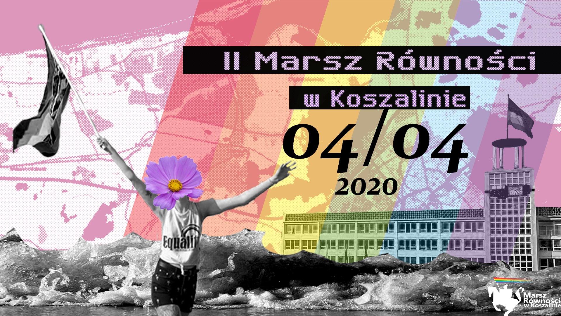 Marsz rownosci w koszalinie Milosc nie wyklucza