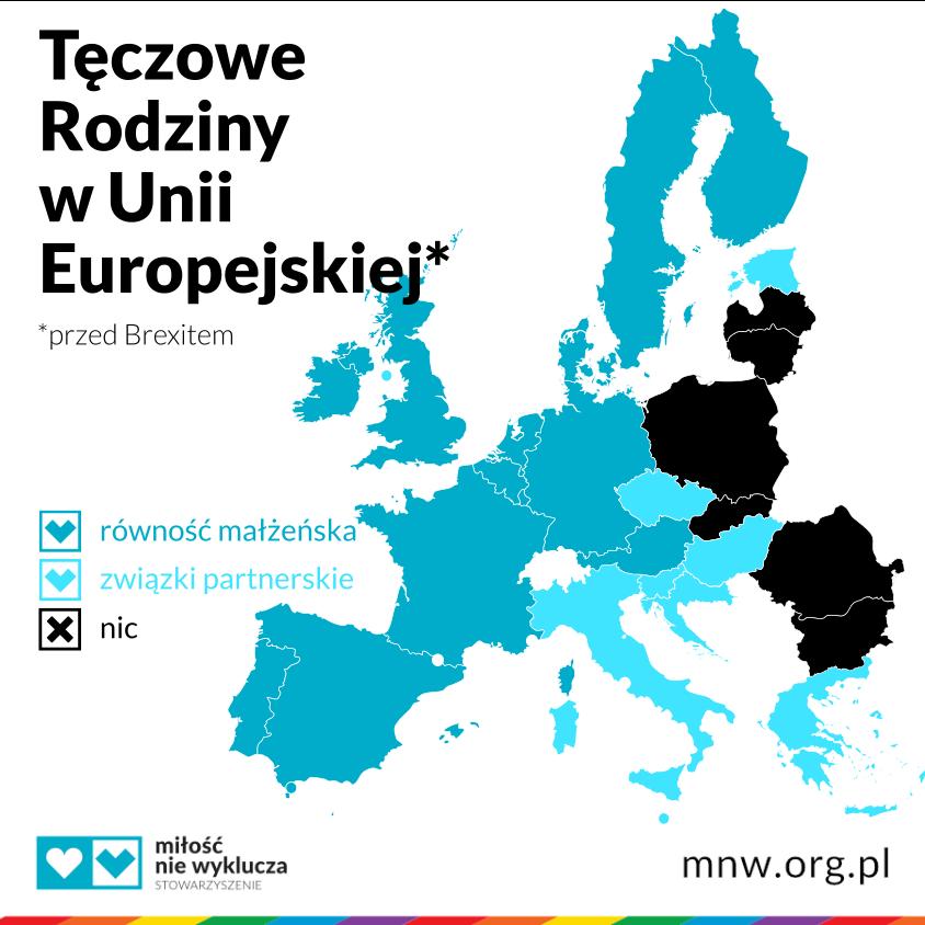 związki partnerskie, równość małżeńska, adopcja dla par tej samej płci, Uni Europejska