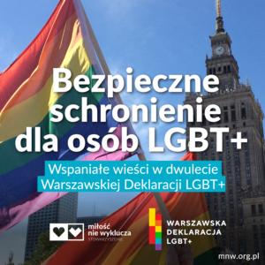 hostel LGBT+ Warszawska Deklaracja LGBT Milosc Nie Wyklucza
